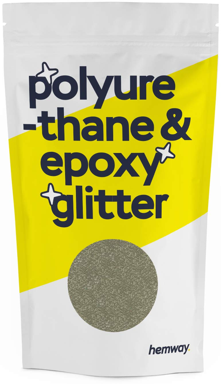 Hemway Metallic Glitter Floor Crystals for Epoxy Resin Flooring (500g) Domestic, Commercial, Industrial - Garage, Basement - Can be Used with Internal & External (Champagne)