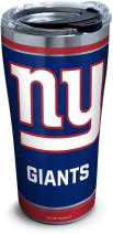 Tervis NFL New York Giants - Touchdown Stainless Steel Insulated Tumbler with Clear and Black Hammer Lid, 20 oz, Silver