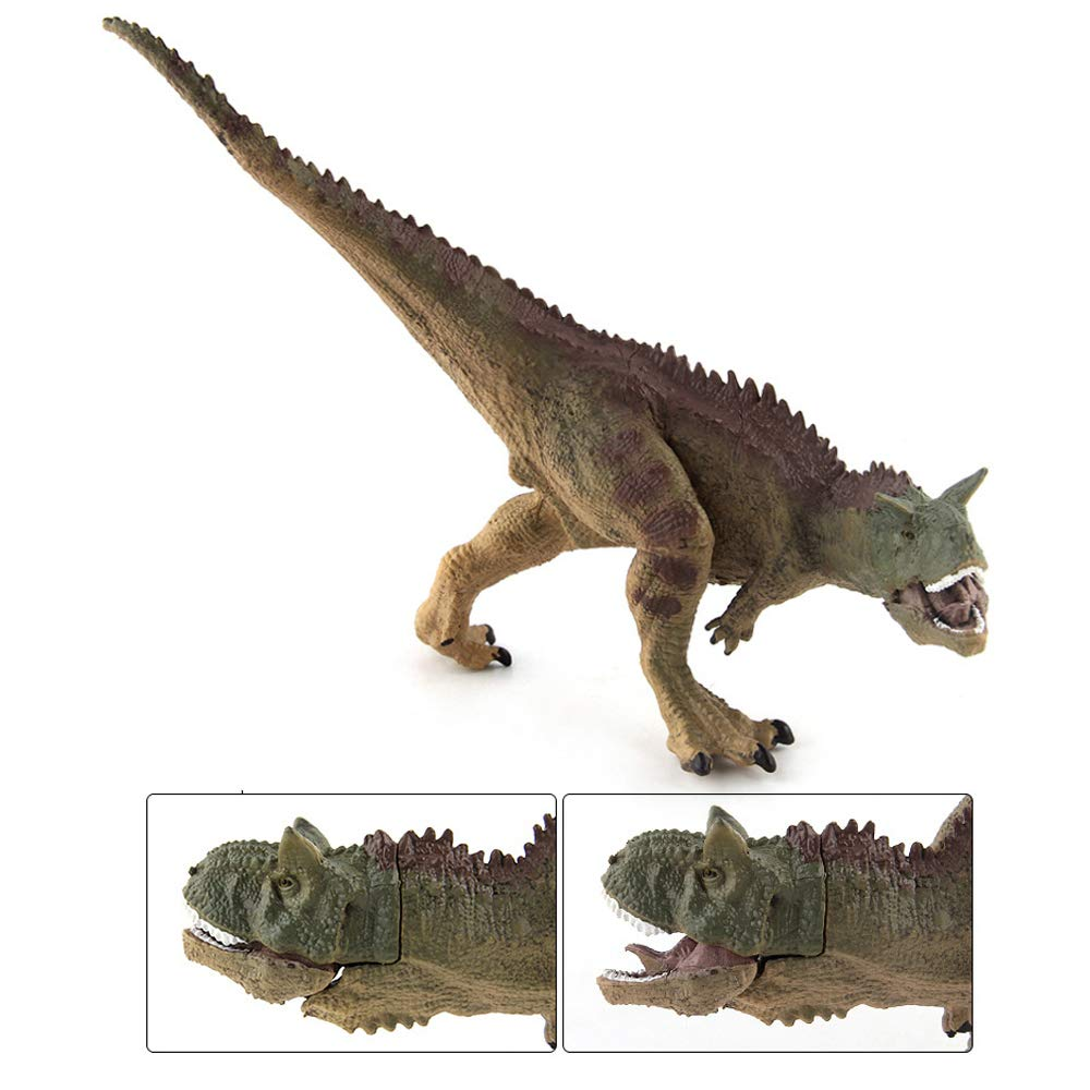 Fantarea Carnotaurus Dinosaur Figures Dinosaur Model School Project Classroom Reward Cognitive Toys Action Collection Model Kid Toys Desktop Decoration Birthday Gifts for Kid Party Favors
