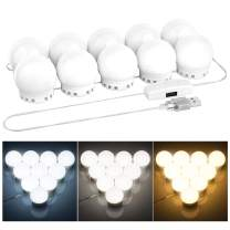 Ovonni Hollywood Vanity Mirror Light Kits, LED Makeup Lights Strip with 10 Dimmable Bulbs for Makeup Dressing Table, Adjustable Brightness and USB Power Cord