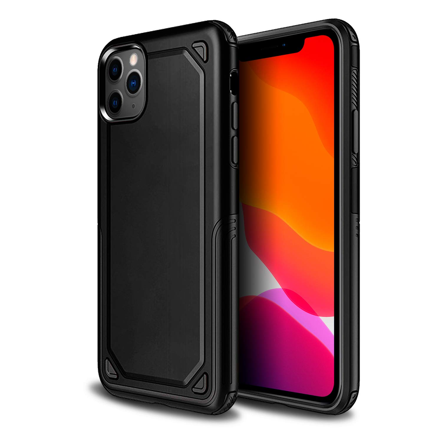 Olixar for iPhone 11 Pro Max Protective Case - Hard Rugged Armour Cover - Fortis - Shock Protection - Wireless Charging Compatible - Black