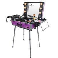 SHANY Studio ToGo Wheeled Trolley Makeup Case & Organizer with Light - Purple
