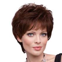 BLONDE UNICORN Short Wigs Human Hair Wigs for Women Mixed Real Human Hair Color 33