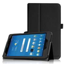 """Fintie Folio Case for AT&T Trek 2 HD/U. S. Cellular ZPad 8 - Premium PU Leather Stand Cover with Auto Wake/Sleep for 8"""" ZTE Trek 2 HD K88 / ZPad 8 K81 Android Tablet (Black)"""