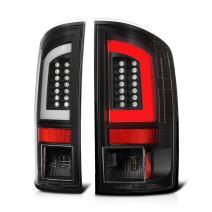 VIPMOTOZ Premium OLED Neon Tube Black LED Tail Light Lamp Assembly For 2002-2006 Dodge RAM 1500 2500 3500 Pickup Truck, Driver & Passenger Side