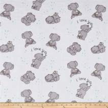 Shannon Fabrics 0517012 Shannon Sweet Melody Designs Minky Cuddle Love You Aruba Fabric by the Yard
