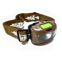 NightShade LED Head Lamp Light for Hunting Survival Camping Hands-Free Flash-light - Professional Head Torch - Multiple Light Modes and Colors - 100 Yard Spotlight Lasts 20 Hours