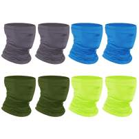 [8-Pack] Neck Gaiter Scarf, Breathable Bandana Face Bandana Cover Cooling Neck Gaiter for Men Women Cycling Hiking Fishing.