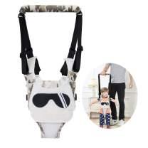 Baby Walking Harness Adjustable Detachable Mesh Baby Walker Assistant Protective Belt for Kids Infant Toddlers (White(Sunglasses Pattern))