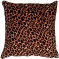PILLOW DÉCOR Cheetah Print Cotton Small Throw Pillow (Piping)
