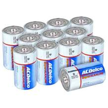 ACDelco D Batteries, Super Alkaline Battery, 12 Count Pack