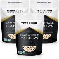 Terrasoul Superfoods Organic Raw Whole Cashews, 6 Pounds