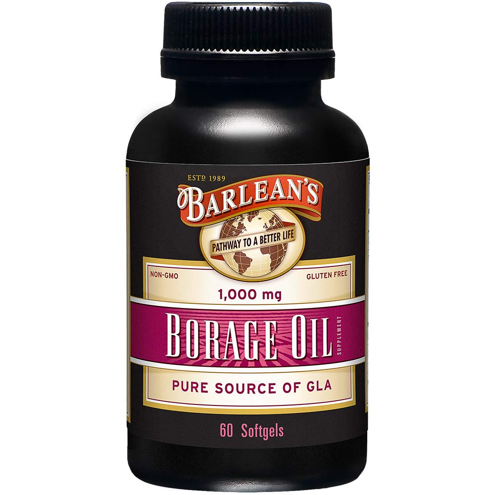 Barlean's Organic Oils Borage Oil, 1000 mg. 60 Count, Bottle