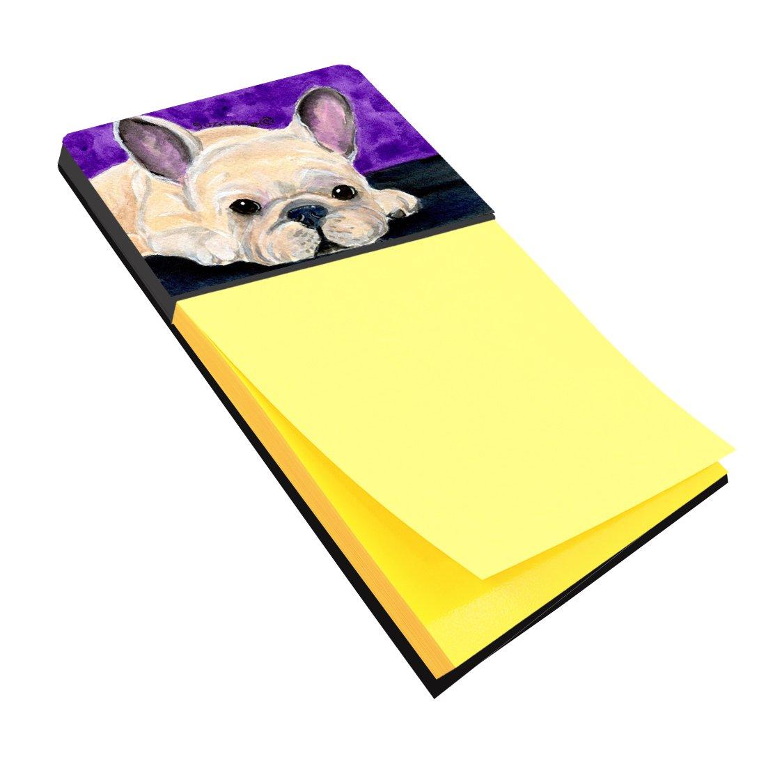 Caroline's Treasures SS8698SN French Bulldog Refiillable Sticky Note Holder or Postit Note Dispenser, Large, Multicolor
