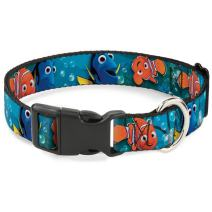 Buckle-Down Dog Collar Plastic Clip Nemo Dory Poses Available in Adjustable Sizes for Small Medium Large Dogs