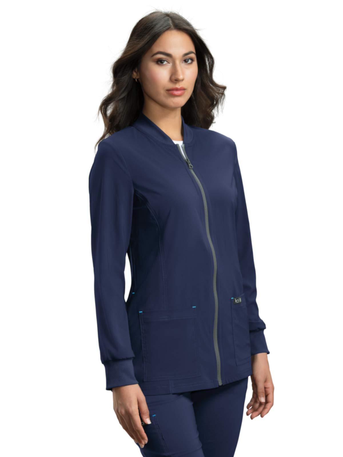 KOI Basics Ultra Comfortable Moisture-Wicking Andrea Scrub Jacket for Women