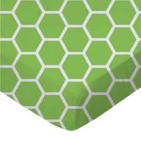 SheetWorld Fitted Portable / Mini Crib Sheet - Citrus Honeycomb - Made In USA