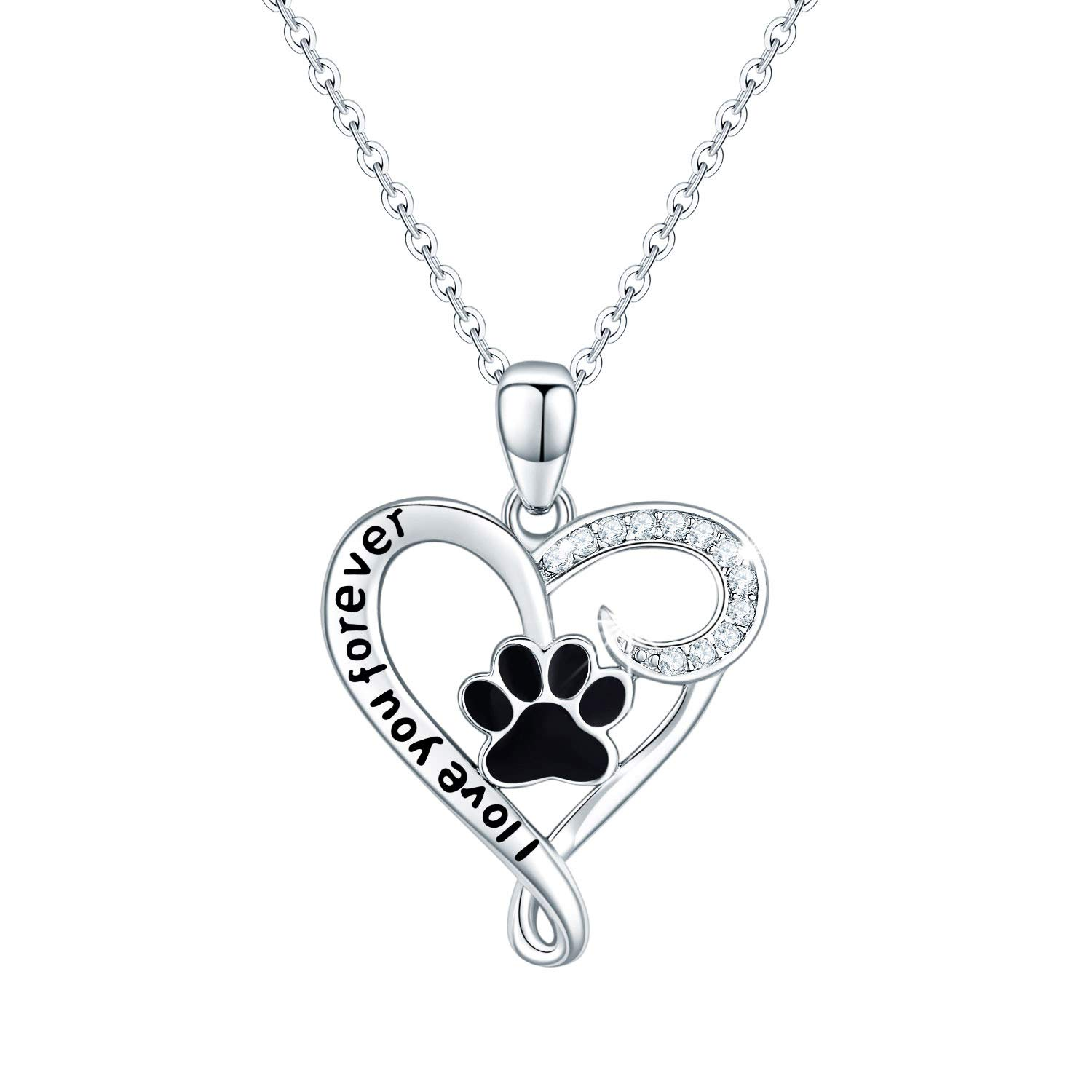925 Sterling Silver Cute Animal Necklace Stocking Stuffers Christmas Gifts for Her Heart Pendant Jewelry Birthday Gift
