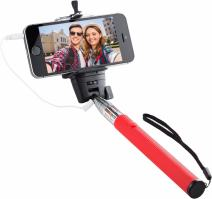 Knox Gear Monopod Selfie Stick with Bluetooth Remote and Zoom Function (Red (Non-Bluetooth))