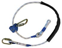 6 ft. x 1/2 in. Adjustfor work positioning rope safety lanyard for tower and ladder climbing, rigging, scaffolding, tree triming, ANSI, OHSA and CSA Certified
