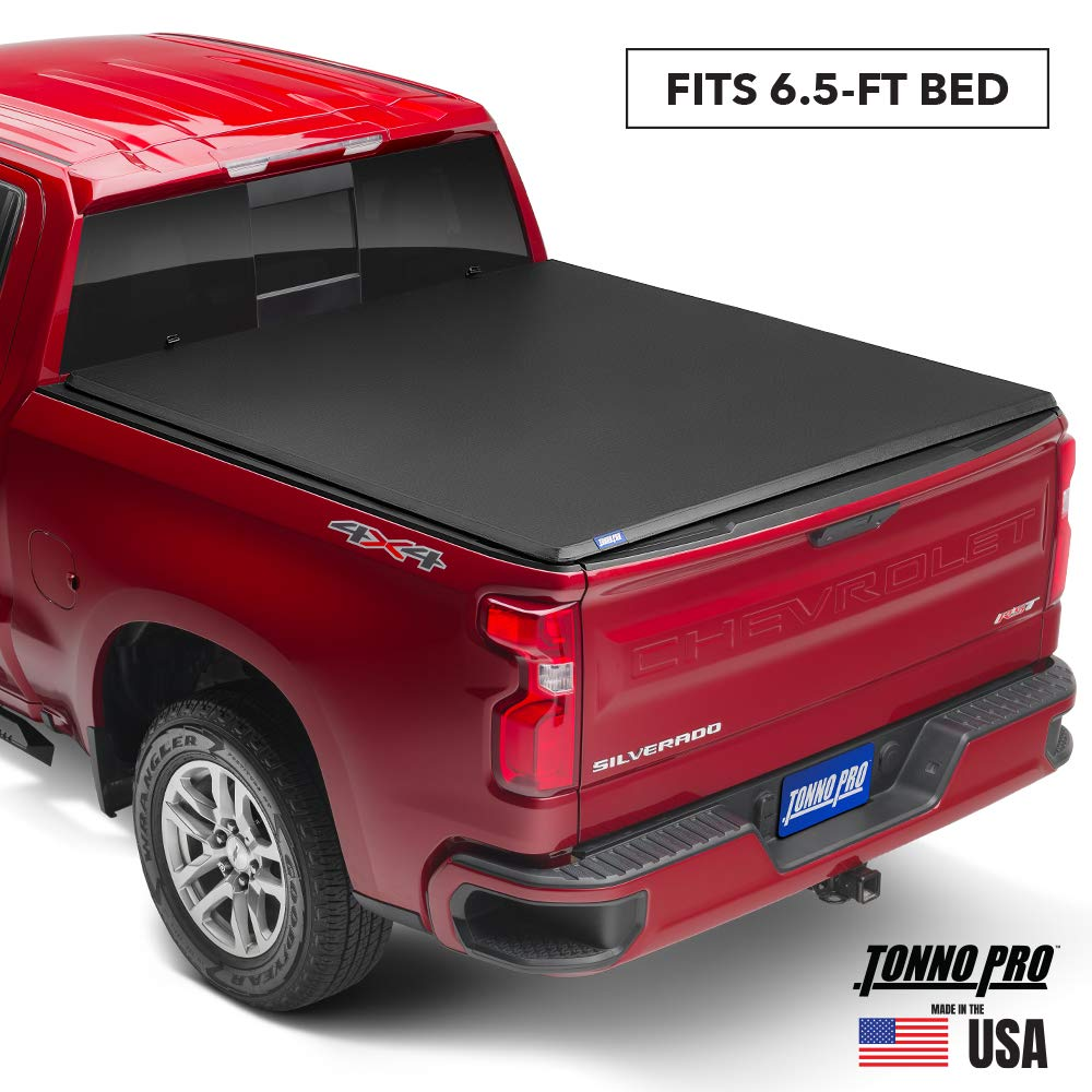 "Tonno Pro Hard Fold, Hard Folding Truck Bed Tonneau Cover | HF-552 | Fits 2007-2013 Toyota Tundra (Includes Track sys. clamp kit) 6'5"" Bed"