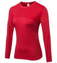 Women's Dry Fit Sport Athletic Compression Long Sleeve T Shirt