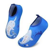 KUBUA Kids Water Shoes Boys Girls Aqua Socks for Toddler Barefoot Swim Beach Pool Quick Dry Lightweight