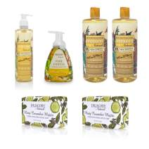 Dr. Jacobs Naturals Pure Castile Liquid Soap - The Complete Gift Set - Free of Parabens, Sulfates, Synthetics, Gltuen and GMO (Almond Honey & Cucmber)