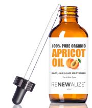 Organic Apricot Kernel Oil MOISTURIZER - in Large 4 oz Dark Glass Bottle with Dropper 100% Pure and Unrefined | an Essential Aromatherapy Skin Massage Oil for Body Hands & Feet