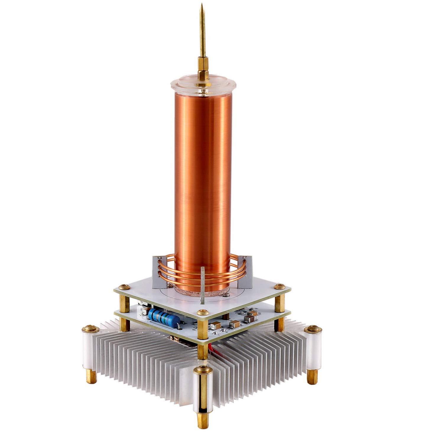 Joytech Music Tesla Coil Acrylic Base Shell Arc Plasma Loudspeaker Wireless Transmission Experiment Desktop Toy Model (YS06)