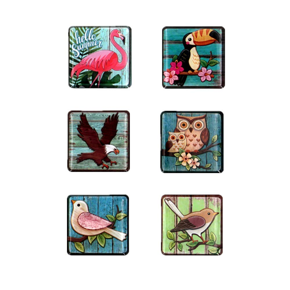 Bird Fridge Magnets,Funny Magnets,Decorative Magnets,Cute Magnets Gifts for Refrigerator Lockers Door Whiteboard Magnets for Kids Toddlers and Adults