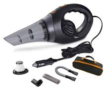 SCOPOW Car Vacuum Cleaner, Handheld Powerful Suction 6.0 KPa Auto Vacuums DC 12V Vacuum Cleaner Set with 16.4ft Power Cord and HEPA Filter for Car Interior Cleaning