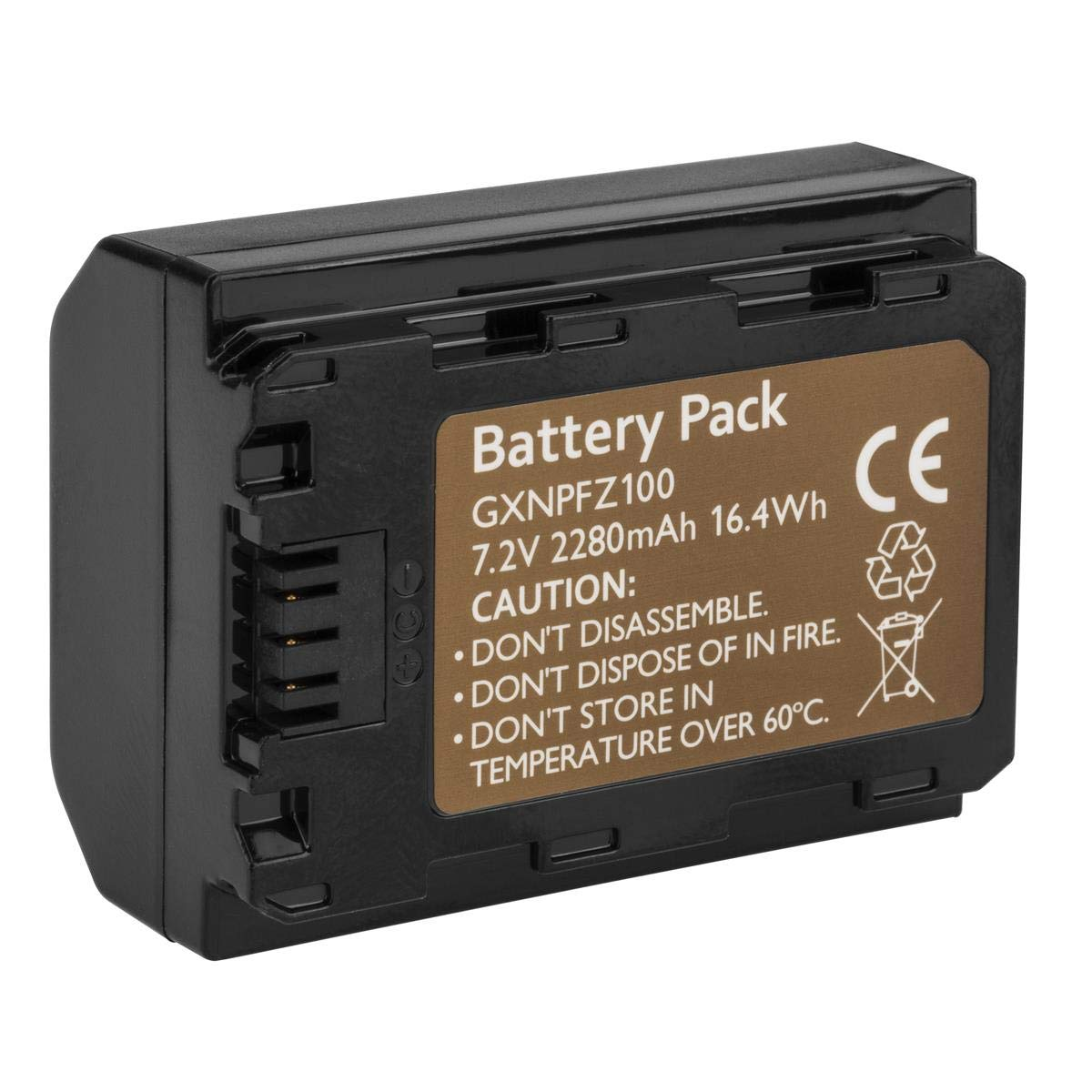Green Extreme Replacement for Sony NP-FZ100 Battery 2280mAh for Sony Alpha 9, A9, Alpha 9R, A9R, Alpha9S, A7 RIII, A7R3, a7 III Camera A9R, Alpha 9S, A7 RIII, A7R3, a7 III Camera