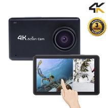 Sport and Action Camera Touch Screen 1080P HD 4KWiFiUnderwater 30M Cam with 170 Wide AngleRechargeable Battery DV Black