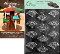 """Cybrtrayd""""Fan Mints"""" Wedding Chocolate Candy Mold with Chocolatier's Guide"""