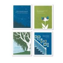 Compendium Positively Green: 4 Pack Sympathy Card Bundle (Set 2), PG Sympathy Cards: 4 Pack