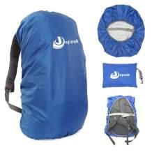 Jepeak Waterproof Backpack Rain Cover, 25L-45L Daypack Rainproof Dustproof Protector Raincover (Elastic Adjustable) for Hiking Camping Traveling Climbing Cycling
