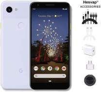 """Newest Google Pixel 3a XL 5.9"""" 64GB Memory Cell Phone Unlocked Android Smartphone, AT&T/T-Mobile/Verizon W/Valued 69.99 Mobile Phone 7in1 Accessories (Pixel 3a XL   64GB, Purple-ish)"""
