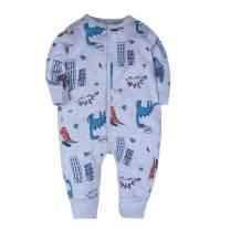 Feidoog Baby Cotton Romper Pajamas Long Sleeve Cartoon Print Jumpsuit Newborn Outfits