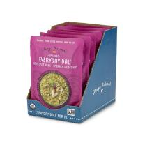 Maya Kaimal Organic Indian Green Split Pea Everyday Dal, 10 oz (Pack of 6), Fully Cooked with Spinach and Coconut.  Vegan, Microwavable, Ready to Eat