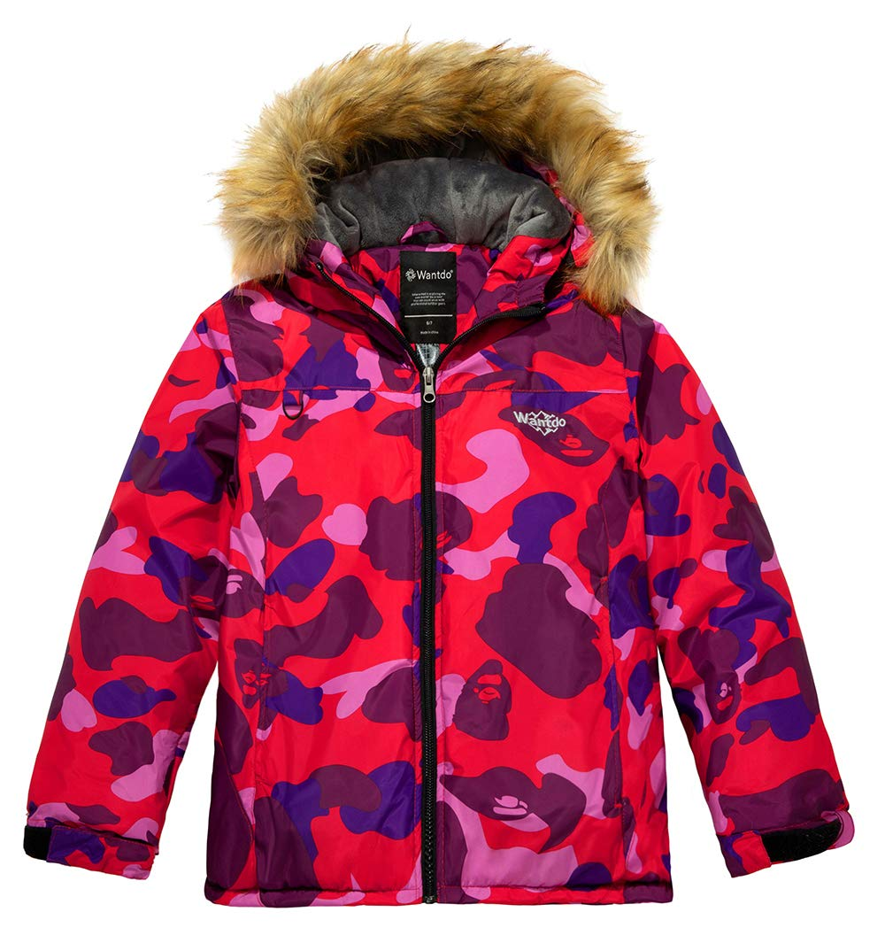 Wantdo Boy's Waterproof Skiing Jacket Winter Snowboard Jacket Puffer Coat