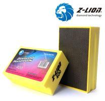 Z-Lion Electroplated Diamond Hand Polishing Pad Foam Back for Granite Marble Stone Glass Ceramic (400#)