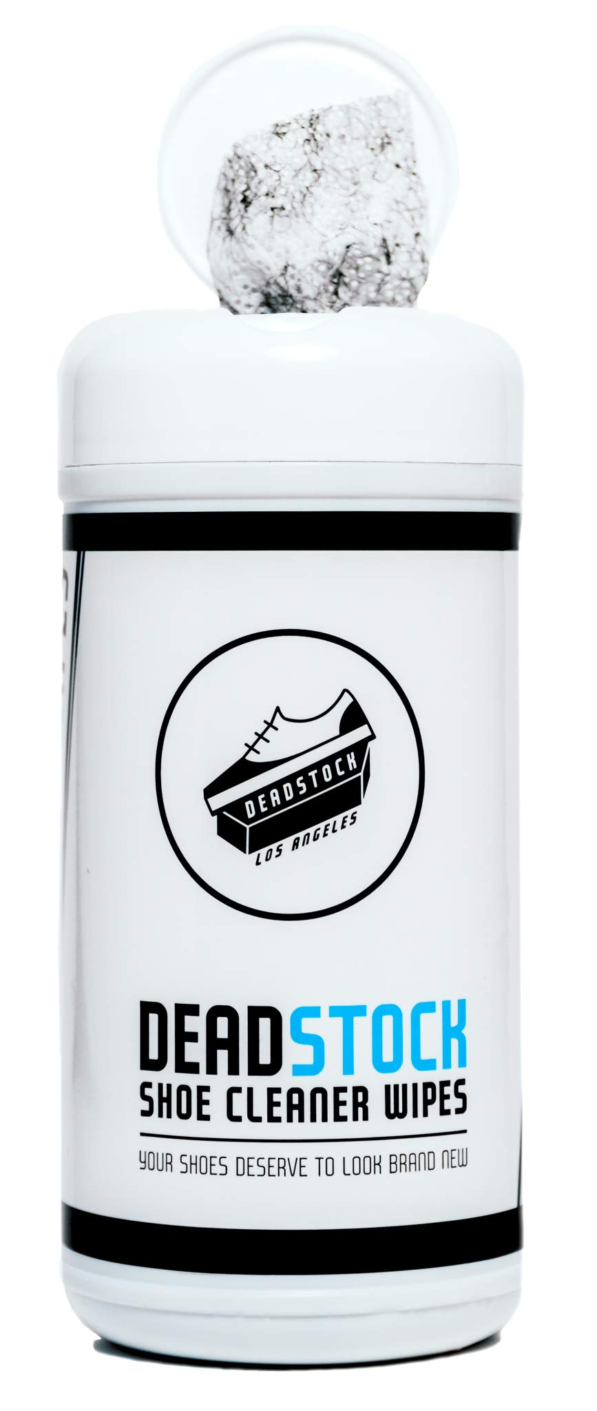 Deadstock Los Angeles Shoe Cleaner Wipes - 30 Packaged Sneaker Wipes - Removes Dirt Buildup, Stains, Scuffs and more! - Safe on Leather, Canvas, Nylon, Vinyl, Sneaker Midsoles and MORE!