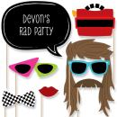 Big Dot of Happiness Custom Retro 80's Photo Booth Props - Personalized Totally 1980s Party Accessories - Eighties Rock Star Party Supplies - 20 Selfie Props
