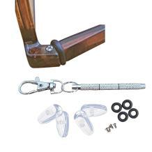AM Landen Eyeglass Repair Kit Eyeglass Grips Hinge Tighteners 2 Pairs 15mm Screw-in Nose Pads Screws and Screwdriver