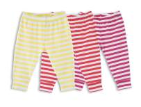 Primary Baby Unisex All Cotton Striped Pant 3-Pack