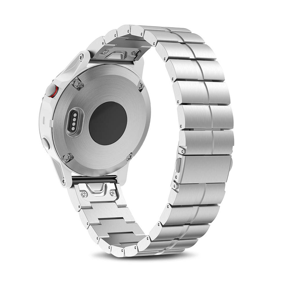NotoCity Compatible with Fenix 5S Metal Band Stainless Steel Watch Bands for Fenix 5S /Fenix 5S Plus/Fenix 6S/Fenix 6S Pro/D2 Delta S Smartwatch(Silver)