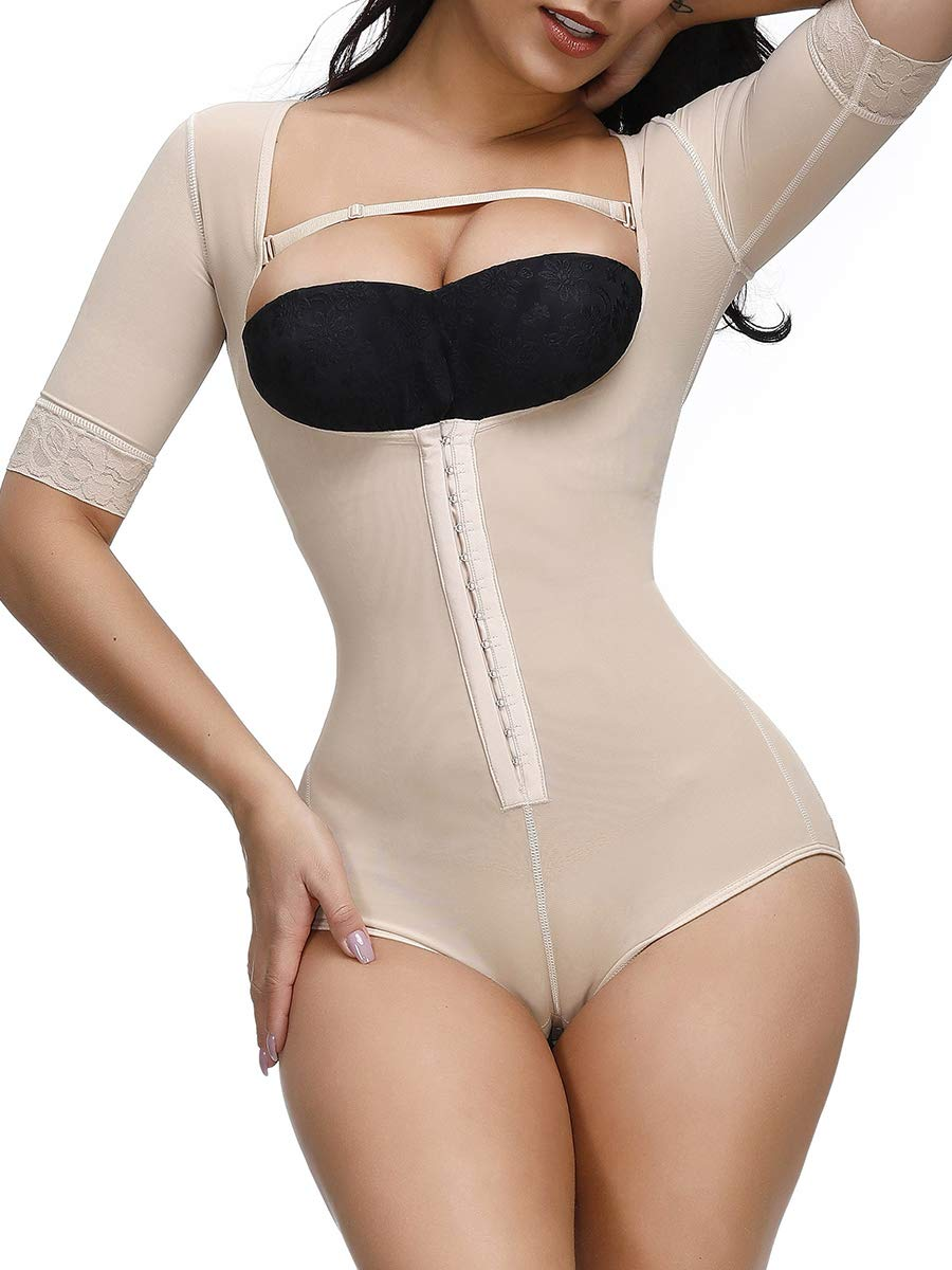 Wonder-Beauty Women Body Shaper Shapewear Compression Bodysuit Firm Control Faja Waist Shaping Cincher
