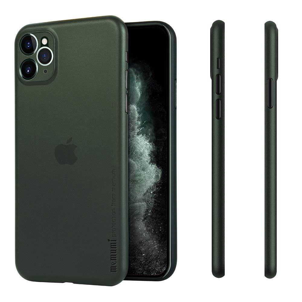 memumi Super Light Slim for iPhone 11 Pro Max Case, [0.3 mm] Matte Finish Back Cover Case for iPhone 11 Pro Max Thin Fit Phone Case Minimal Design with Fingerprint Resistant (Matte Translucent Green)