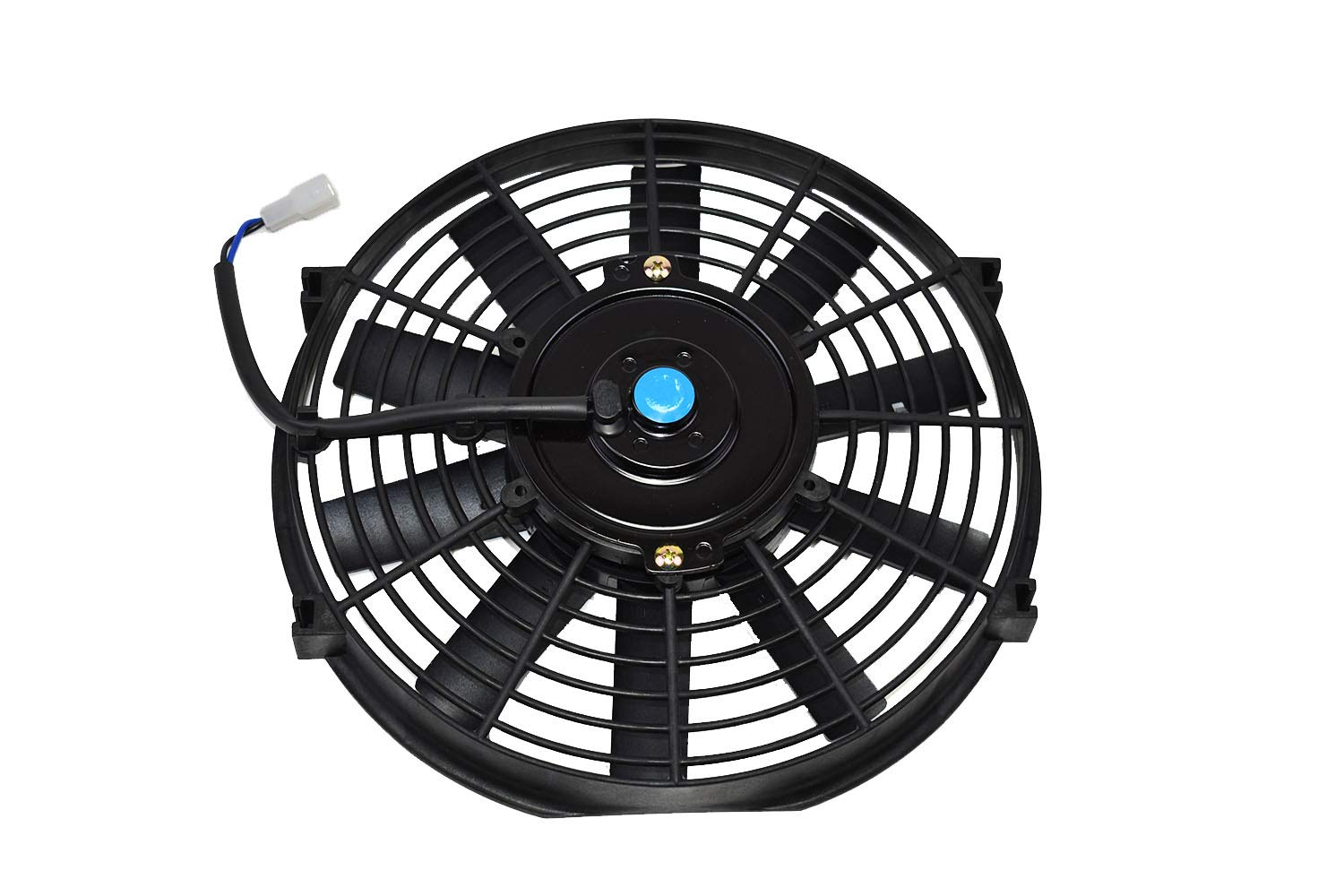 A-Team Performance 150051 Electric Car Radiator Cooling Fan Transmission Auto Cooler High Performance 850 CFM 12V Reversible Flat 10 Blades Black 10 Inches